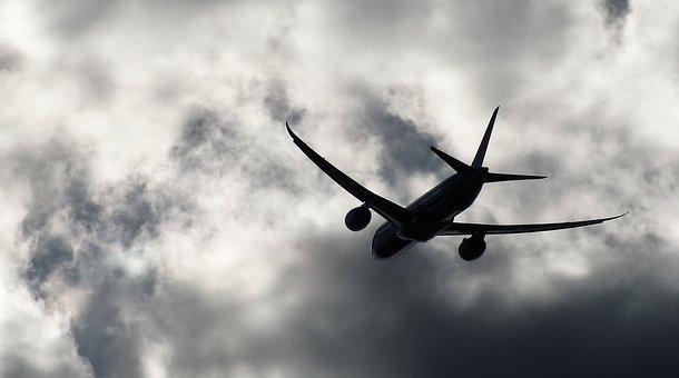Aircraft, Airplane, Sky, Transportation, Dark Clouds