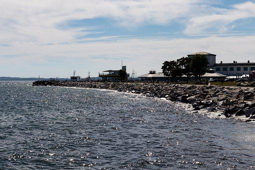 Coast, Breakwater, Sea, Ocean, Water, Beach, Stones