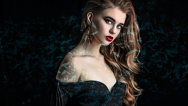 Woman, Model, Make Up, Dress, Earrings, Girl, Eyes