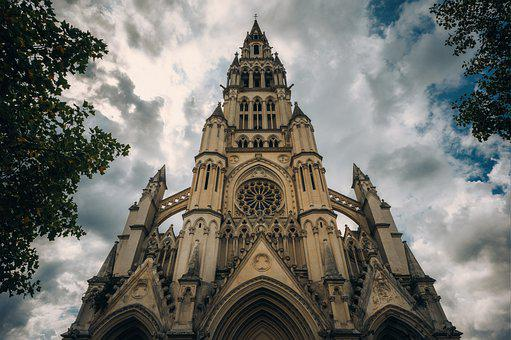 Church, Cathedral, Facade, Architecture, Building