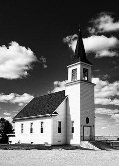 Country Church, Steeple, Church, Countryside, Belfry