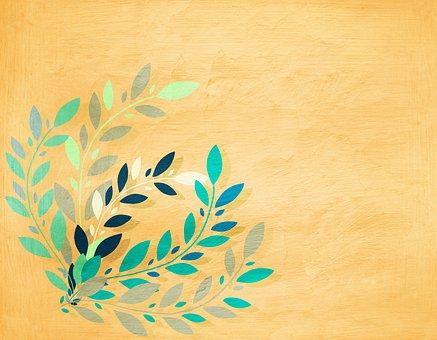 Leaves, Drawing, Background, Frame, Border, Design, Art