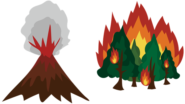 Disaster, Hazard, Forest Fires, Volcanic Eruption