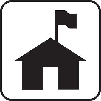 Home, House, Flag, Capture The Flag, Symbol, Sign, Icon