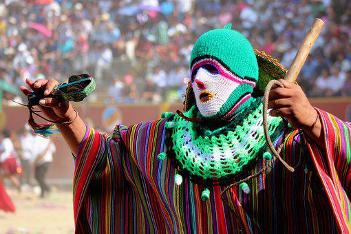 Costume, Mask, Knitted Mask, Crocheted, Mexican Costume