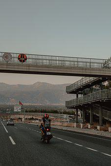 Motorcycle, Cars, Vehicles, Highway, Road, Travel
