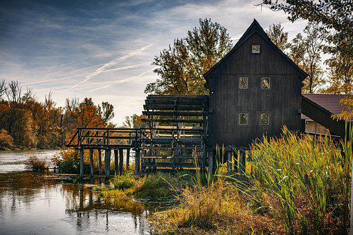 Water Mill, Lake, Landmark, Tourist Attraction, Water