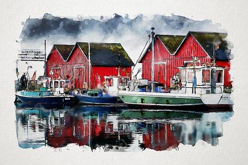 Waters, Port, Boatyard, Pier, Sea, Fishing Boats, Boats