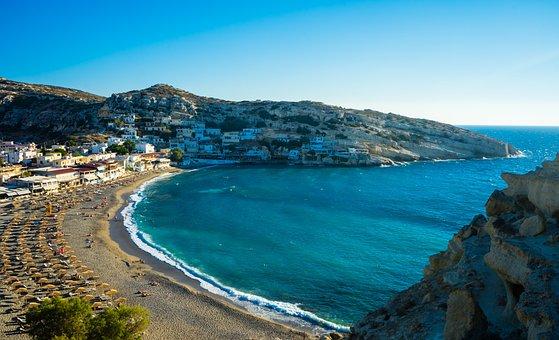 Matala, Greece, Crete, Hippies, Greek, Village, Cave