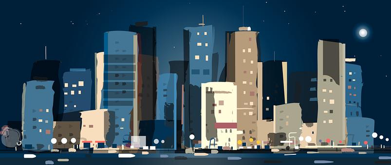 City, Night, Metropolis, Nightlife, Skyscrapers