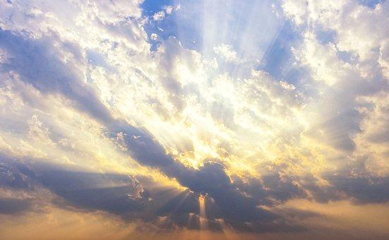 Cloudscape, Clouds, Sky, Cloudy Sky, Sunrays, Sunlight
