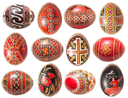 Easter Eggs, Easter, East Ukrainian Art, Painting