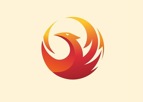 Phoenix, Bird, Fire, Logo, Mythical, Animal, Legendary