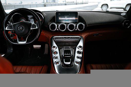 Car, Vehicle, Interior, Steering Wheel, Seats, Leather