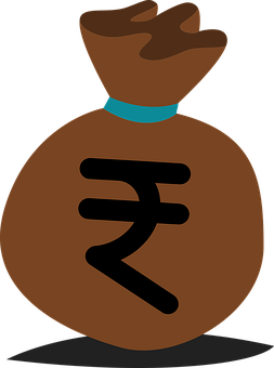 Moneybag, Money Sack, Indian Rupee, Money, Wealth