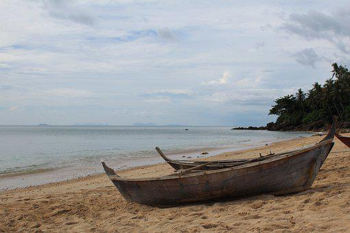 Beach, Sand, Boats, Ocean, Sky, Travel, Water, Island
