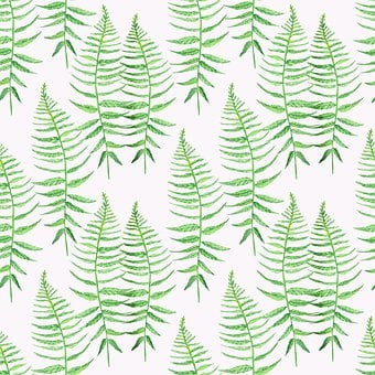 Background, Fern, Leaves, Pattern, Watercolor