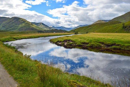River, Stream, Channel, Estuary, Brook, Reflection