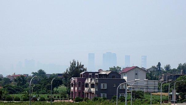 Outskirts, Houses, Suburbs, Suburban, Town, Village