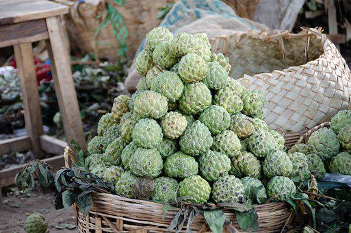 Apples, Custard Apples, Fruit, Juicy, Sweet, Tropical