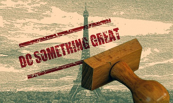Do Something Great, Stamp, Font, Eiffel Tower, Icon