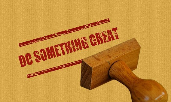 Stamp, Wood, Do Something Great, Saying, Icon, Quote