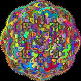 Abstract, Tibetan Mandala, Ornamental, Mandala