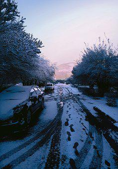 Snow-covered Cars, Snow-covered Street, Snow