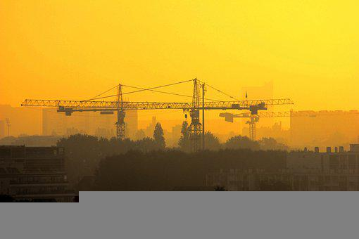 Crane, Structure, Machinery, Construction Site, City
