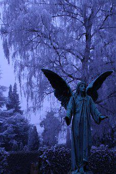 Graveyard, Angel, Statue, Sculpture, Angel Statue