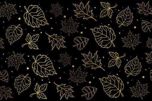 Leaves, Gold Leaves, Maple Leaves, Autumn, Foliage