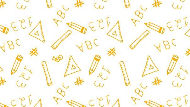 Alphabet, Numbers, Math, Background, Pattern, Abc