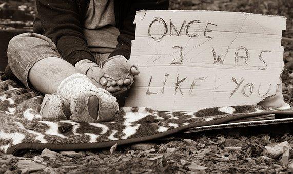Homeless Man, Beggar, Poverty, Begging, Alms