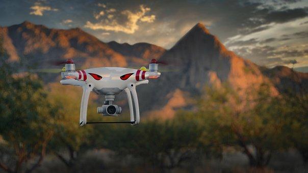 Drone, Camera Drone, Flight, Flying, Quadcopter, Uav