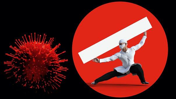 Virus, Warning, Mask, No Entry, Covid, Panel, Covid-19