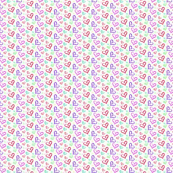Hearts, Shapes, Pattern, Digital, Paper, Greeting