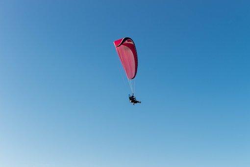 Paragliding, Parachute, Paraglider, Sport