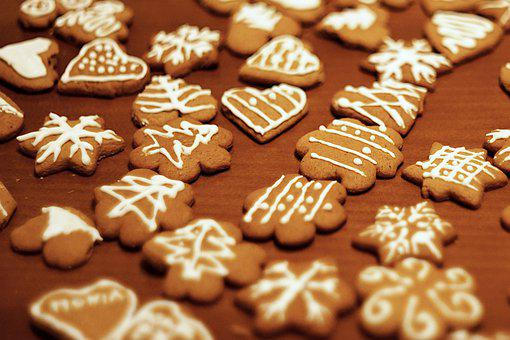 Gingerbread, Pastries, Cookies, Frosting, Sweets, Treat