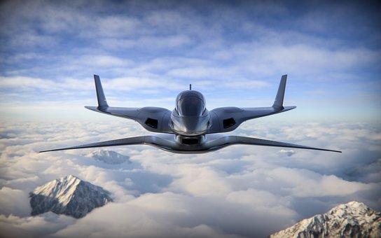 Plane, Aircraft, 3d Rendered, 3d Rendering, Jet, Flight