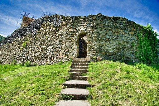 Entrance, Crypt, Mausoleum, Doorway, Structure, Rock