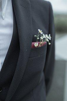 Corsage, Suit, Suit Pocket, Suit Jacket, Coat, Flowers