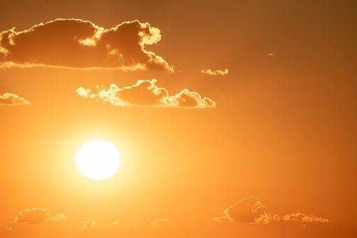 Sun, Sunset, Golden Hour, Sunlight, Clouds