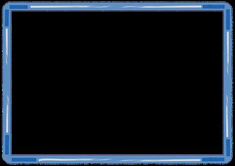 Frame, Border, Blue Frame, Blue Border, Copy Space