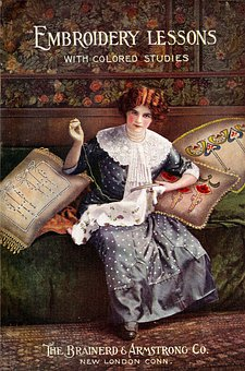 Sewing, Book, Book On Sewing, Woman, Vintage, Handmade
