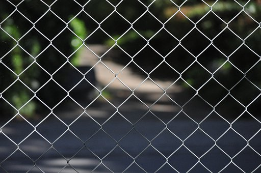 Fence, Steel Wire, Chain Link Fencing, Chain Link Fence