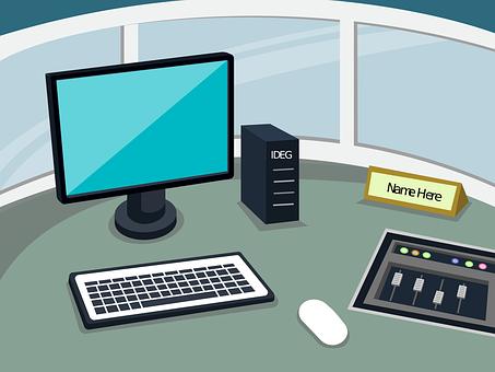 Control Room, Work Space, Computer, Music, Dj, Mac