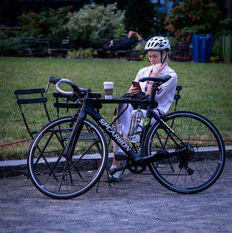 Woman, Helmet, Bicycle, Bike, Cycling, Cyclist, Park