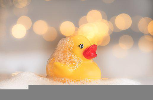 Rubber Duck, Toy Duck, Bath, Duck, Wet, Soap Bubble