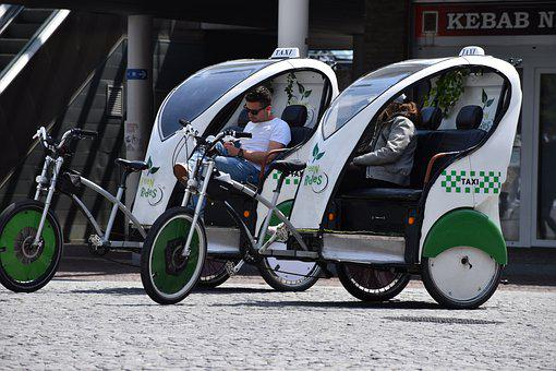 Taxi, Cycling, Pedicab, Eco-friendly, Mobility, Bicycle