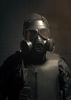 Gas Mask, Police, Policeman, Swat, Military, Protection